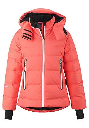 Reima Girls Waken Down Jacket Pink, Kinder Daunen Daunenjacke, Größe 140 - Farbe Bright Salmon