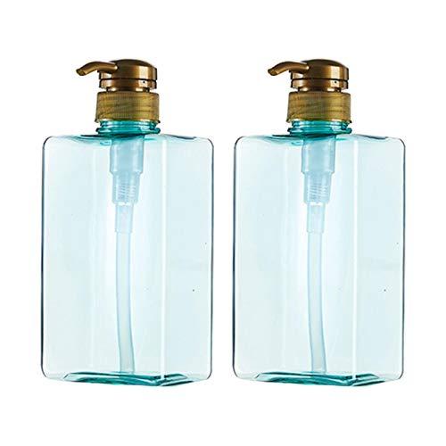 Amusingtao 2pcs Gel de Ducha Vintage Con Bomba Champú Contenedor Loción Botella Dispensador de Jabón