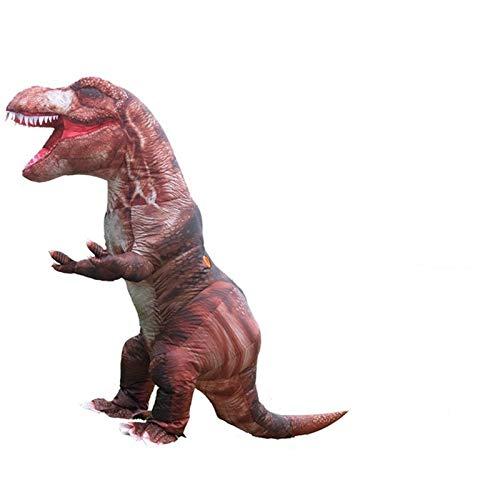 SMchwbc Cosplay T-REX Aufblasbare Halloween-Dinosaurier-Kostüme für Erwachsene Männer Dino Ganzkörper-Blowup-Karneval lustiger Cosplay-Maskottchen-Kleidung Aufblasbare Kleidung
