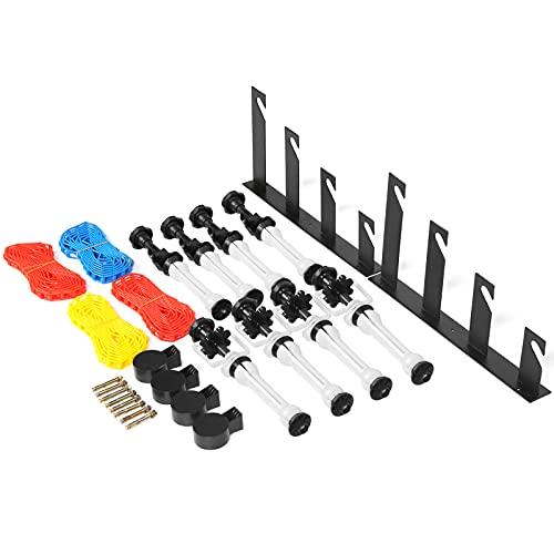 Ausla Soporte de fondo de 4 rollos, duradero kit de soporte de fondo de 4 rollos, ligero para fotografía.