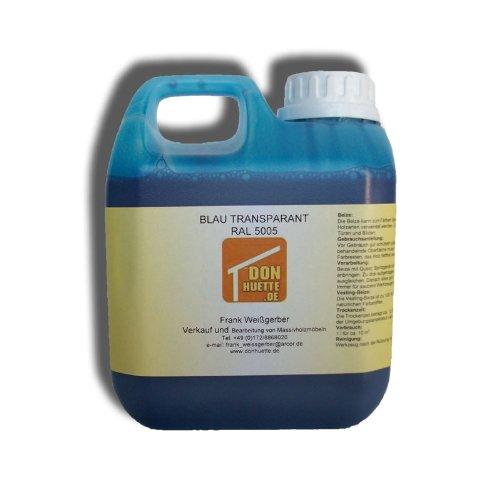 Beize Holzbeize Blau 1000 ml RAL 5005