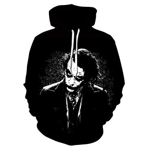 2019 Neue Herren/Damen Langarm Hoodies 3D Print Batman und Joker Sweatshirt Harajuku Pullover