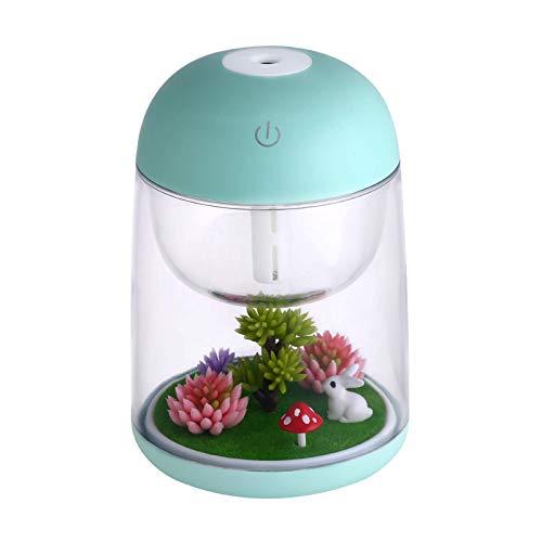 Humidificadores de micro paisaje, luz nocturna colorida, difusor de aroma USB, luz nocturna de hogar dormitorio