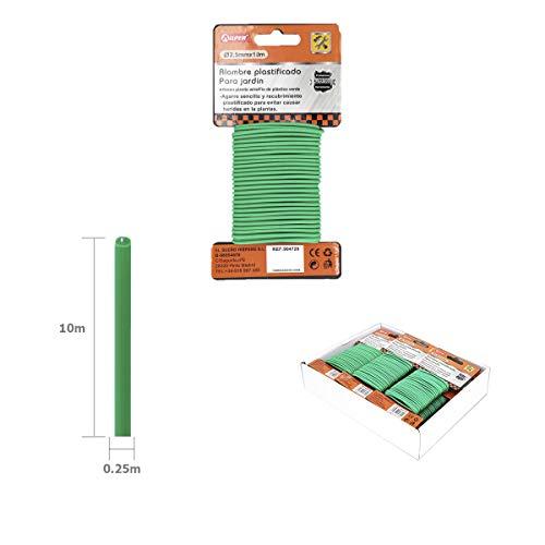 ALLPER Alambre expandido para jardín, plastificado Revestido de Goma. 3,5 mm x 8 m. Hecho para Evitar herir a Las Plantas.