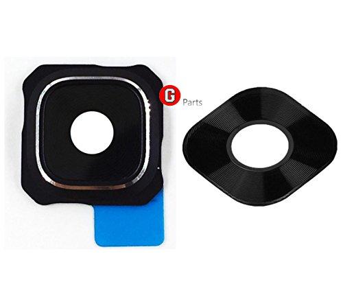 Premium✅ Kameralinse Objektiv Abdeckungsset für Samsung S6 Edge + Plus G928F (Schwarz Sapphire) - Kameralinse Glas Rahmen mit integriertem Klebestreifen - Schwarz Sapphire - NEU