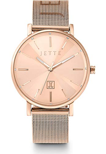 JETTE Time Damen-Uhren Analog Quarz One Size Rosé Milanaise Armband 32013684