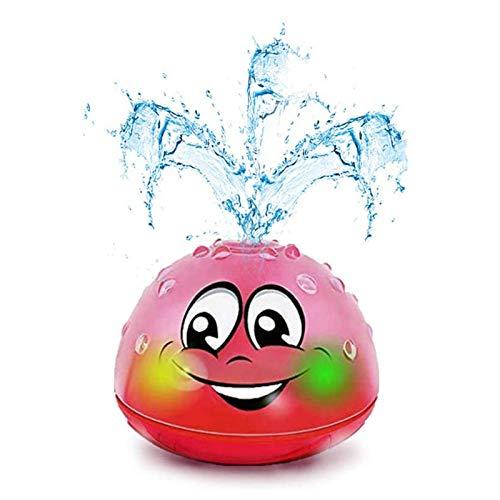 U-A Juguetes de baño, rociador de Agua, Juguete de baño para bebés con luz, Juguetes para niños pequeños, año Nuevo para niños de 2, 3, 4 años, niñas