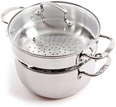 Amazon.com: 4 piezas acero inoxidable Pasta al vapor ...