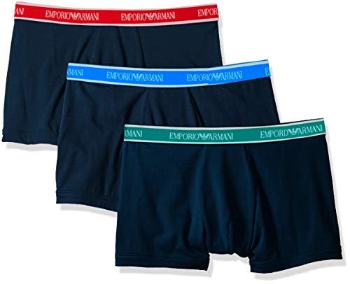 Emporio Armani Herren Stretch Cotton 3-Pack Boxer Brief Slip, New Marine/New Marine/New Marine, Large