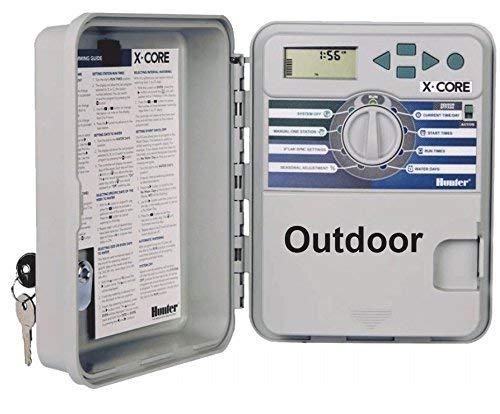 Hunter XC-401-E 4 Consola de riego para las4estaciones (exteriores)
