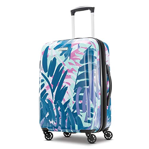 American Tourister Moonlight Hardside Expandable Luggage with Spinner Wheels, Palm Trees, Checked-Large 28-Inch