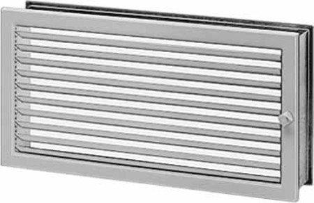 Helios Lüftungsgitter regulierbar LGR 350/230 Stahl verzinkt, weiß Lamellengitter 4010184009290