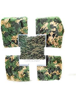 Warm and Snuggly Super Soft Camo Throw Blanket 50x60in