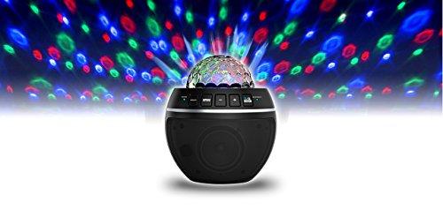 iDance BB10M Party Ball Musikanlage Discokugel LED-Lichteffekt rotierend Mini-Sound-System mit Bluetooth-Lautsprecher