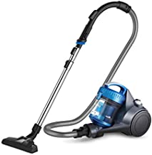 eureka WhirlWind Bagless Canister Vacuum Cleaner, Lightweight Vac for Carpets and Hard Floors, Blue