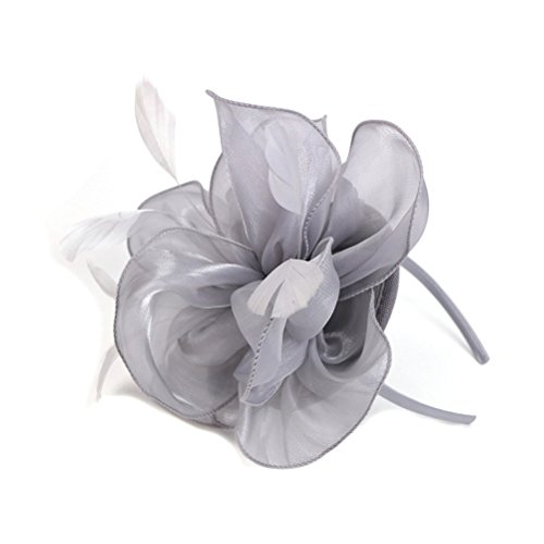 Frcolor Pluma de flor Fascinator diadema cóctel fiesta tocado del pelo de...