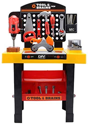MULTISTORE Tool&Brains - Banco de trabajo infantil con accesorios