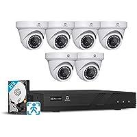 Gwsecu 8-Channel 6-Camera Security System