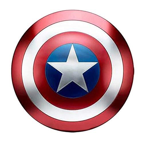 Captain America Shield Kostüm Schild Erwachsene, 1: 1 Nachbau Marvel Prop Amerika Herren Requisiten Cosplay-Schild classic,47cm