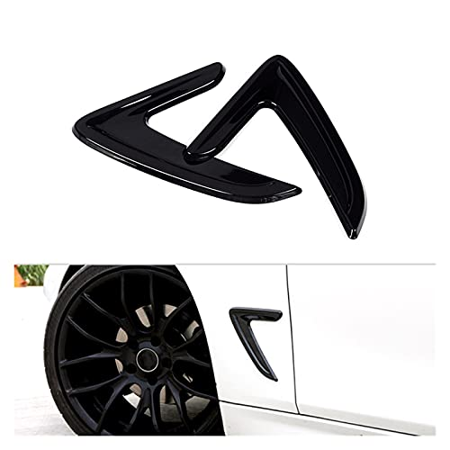 ZHANGWY Yang Store Ajuste para BMW 3 Series F30 2013 2014 2015 2016 2016 2017 2017 2018 2pcs Car Side Wing Air Flujo de Aire Fender Grill Outlet Ingesta Adorn (Color : Black)
