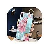 ローズフラワーリストストラップ電話ケースiphone 11プロマックスX XR XSマックス7 8 6 6 sプラスカバーハンドバンドケースソフトTPUリリーフキャパ,For iphone 11 Pro,Style 5