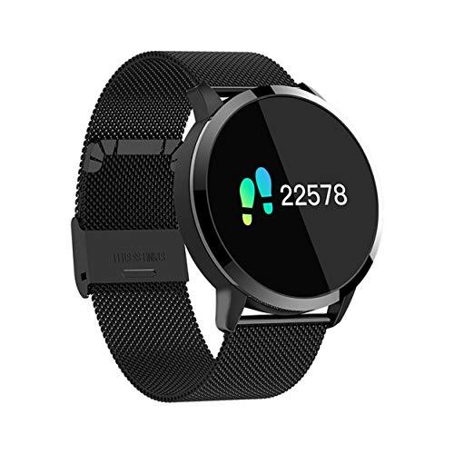 Reloj de seguridad Inteligente Q8, Ronda pantalla táctil IP67 a prueba de agua for la Mujer SmartWatch, rastreador de ejercicios con el ritmo cardíaco y el sueño podómetro, Pulsera for iOS / Android M