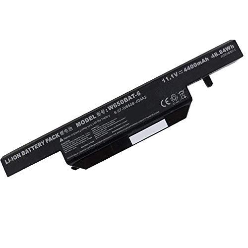 Backupower Ersatz W650BAT-6 6-87-W76SS-4R41 6-87-W650S-4E42 6-87-W650S-4D4A Akku Kompatibel mit CLEVO W355SZ W650EH W650SF W655SZ W670SZ GIGABYTE P15F V2 V3 V5 Q2556 Terra Mobile 1749