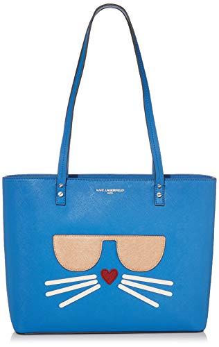Karl Lagerfeld Paris Damen Maybelle CHOUPETTE Tote Tragetasche, blau (French Blue), Einheitsgröße