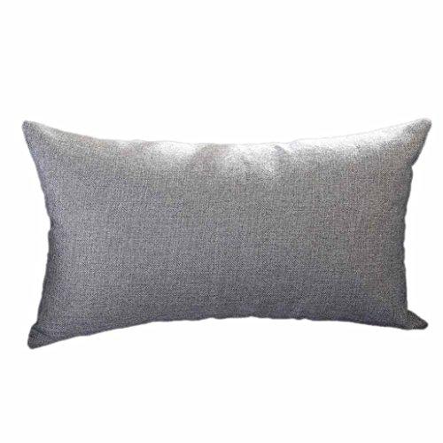 LuckyGirls Kissenbezug 30 x 50 cm,Abnehmbare Rechteck Sofa Pillowcase Home Decor (Grau)