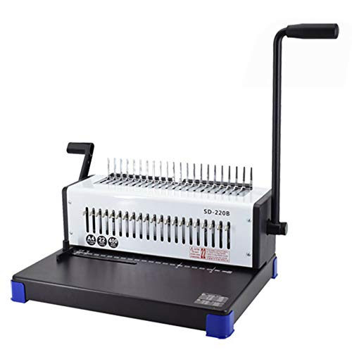 21 Hole Binding Machine 400 Sheets Binding Capacity Paper Comb Punch Binder Manual Calendar Punching Binding Machine with Solid Handle (SD-220B)