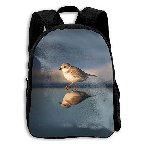 ADGBag Children's Gregarious Wading Bird Plover Backpack Schoolbag Shoulders Bag For Kids Zaino per bambini
