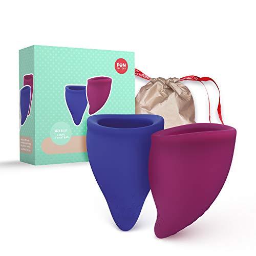 Fun Factory FUN CUP Size B - Ergonomische Menstruationstassen für stärkere Tage (2 Cups - Groß)