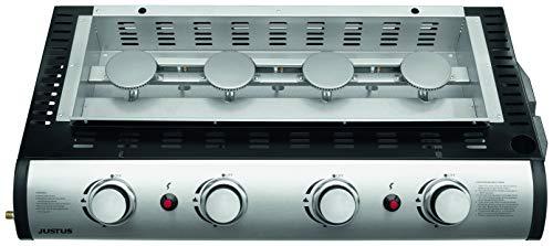 JUSTUS Grilleau 4 BBQ-Gas-Plancha, schwarz, 240