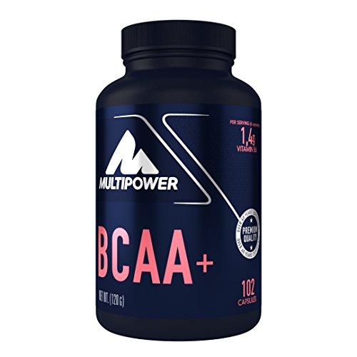 Multipower BCAA 2:1:1 Kapseln (glutenfreie BCAA Kapseln – BCAA Pillen mit den essentiellen Aminosäuren L-Leucin, L-Isoleucin und L-Valin) (1 x 122g)