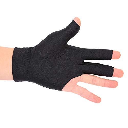 DAUERHAFT Snooker Pool Handschuh DREI Finger Handschuh Black Thicken Wrist für Billard