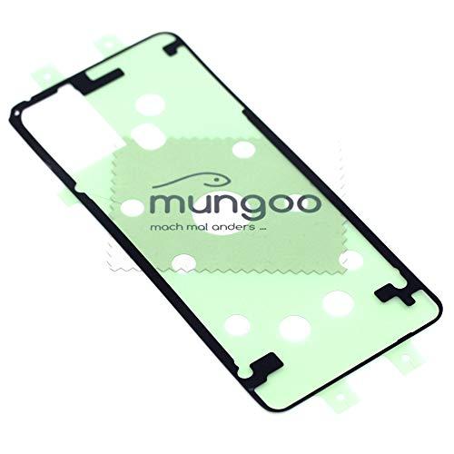 Klebefilm Akkudeckel für Samsung Original für Samsung Galaxy A21s (A217F) Dichtung Kleber Adhesive mit mungoo Displayputztuch