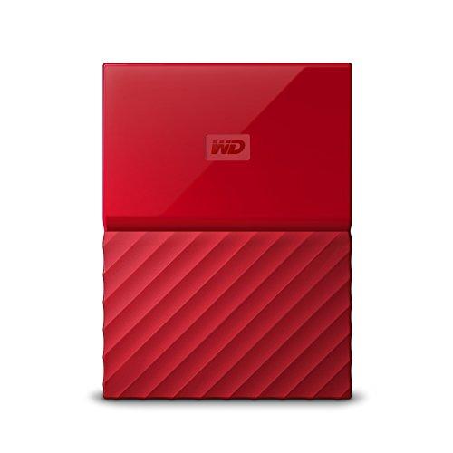 Western Digital My Passport - Disco Duro portátil y Software de Copia de Seguridad automática para PC, Xbox One y Playstation 4, Acabado estandar, Rojo