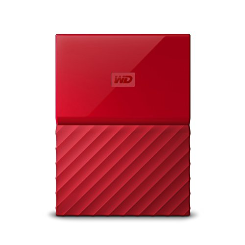 WD My Passport 2 TB Portable Hard Drive and Auto Backup Software for PC, Xbox One and PlayStation 4 - Red