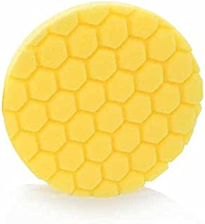 Chemical Guys BUFX_101_HEX6 Hex-Logic Heavy Cutting Pad, Yellow (6.5 Inch)