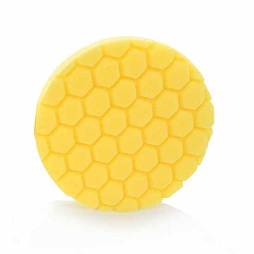 Chemical Guys BUFX_101HEX6 BUFX_101_HEX6 Hex-Logic Heavy Cutting Pad, gelb (16,5 cm Pad für 15,2 cm Trägerplatten)
