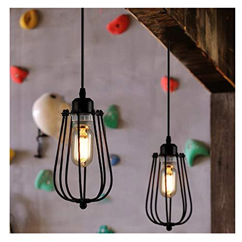 Sotoboo Ballon en fil métal Cage Abat-jour, fer industriel Edison NEUF vintage Plafonnier lampe suspension Luminaire Cage Bar Cafe Abat-jour Café Maison Salon