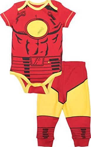 Marvel Avengers Baby Boys' Bodysuit & Pants Clothing Set, Iron-Man (12M)