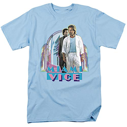 Miami Vice Miami Heat Unisex Adult T Shirt, Light Blue, S to 3XL