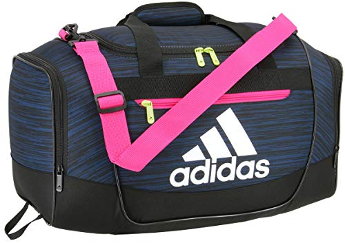 adidas Defender III Small Duffel, Legend Marine Looper/Real Magenta/Hi Res Yellow, Small