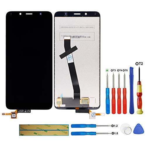 swark Pantalla LCD compatible con Xiaomi Redmi 7A MZB7995IN, M1903C3EG, M1903C3EH, M1903C3EI Negro (sin marco) Pantalla táctil LCD digitalizador, cristal de montaje + herramientas