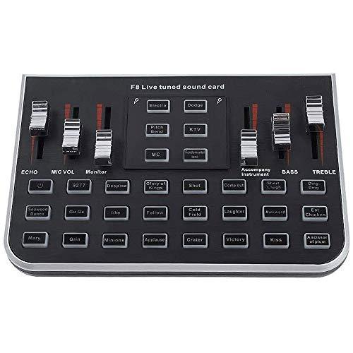 Externe Soundkarten Tragbare Live-Übertragung Mutifunctional Intelligent Lautstärke einstellbar mit 4 Varianten Töne for Live-Übertragung K Songs Aufnahme S0917