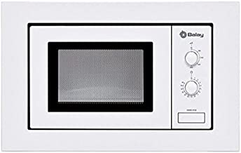 Eurroweb - Microondas integrables con Plato Giratorio 800 W, Color Blanco