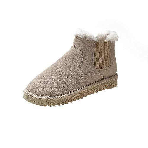 SJDYJ Damen Schneeschuhe Damen rutschfeste wasserdichte StiefelWarme Stiefel Warme Winterstiefel aus Baumwolle sowie Chelsea-Stiefel mit dickem Samtboden