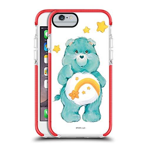 Head Case Designs Offizielle Care Bears Wish Klassisches Rote Bumper Antischock Gel Huelle kompatibel mit Apple iPhone 6 / iPhone 6s