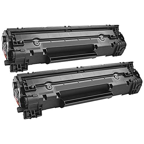 Toppack 2 cartuchos de tóner compatibles con HP 36a, color negro